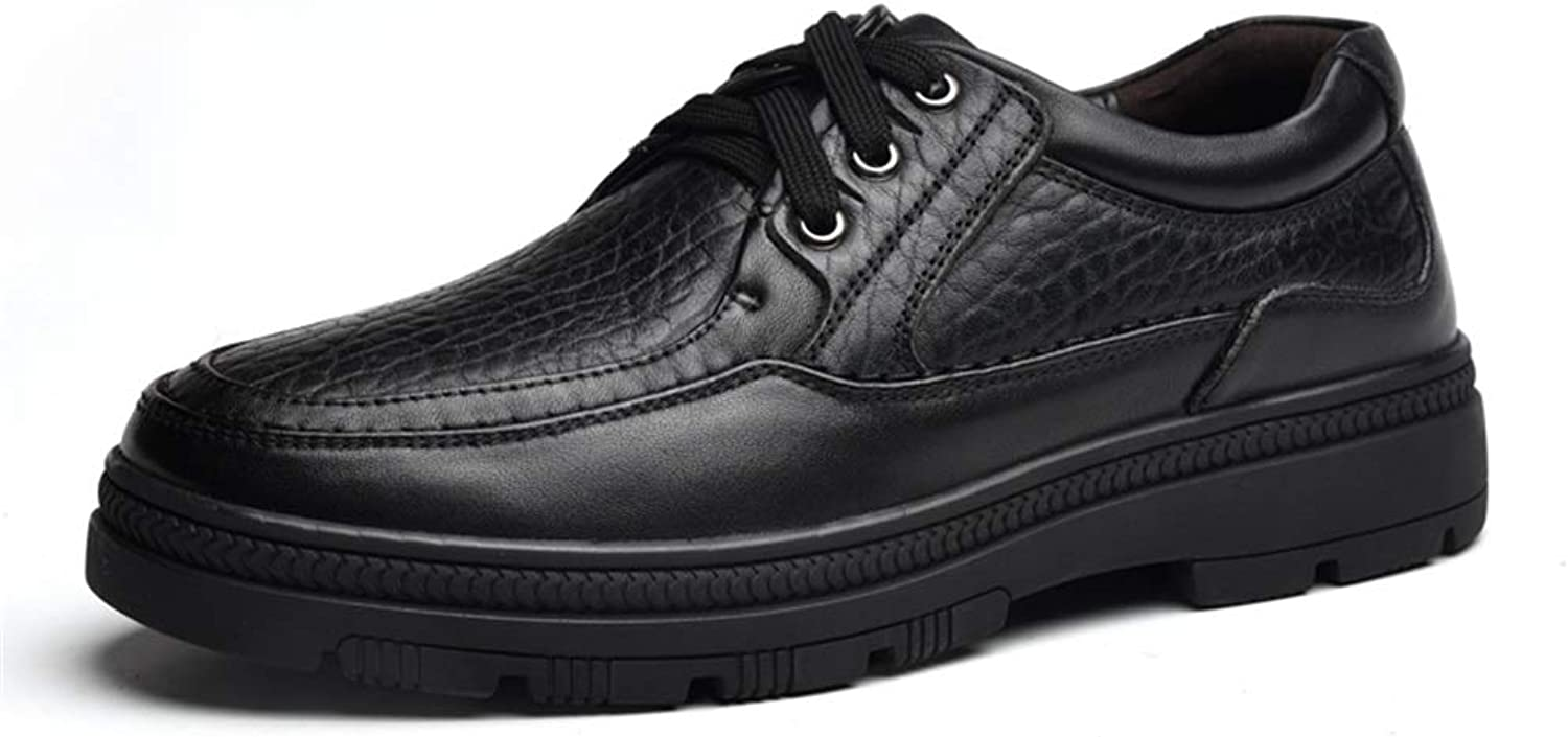 . Mens Black Brown Lace Up shoes Business Oxford For Men Lace Up Style Genuine Leather Strong Anti Slip Outsole Casual Durable shoes (color   Black, Size   8.5 UK)