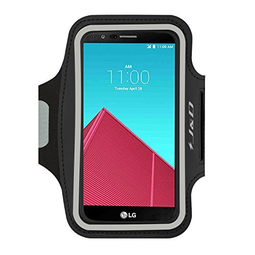 J&D Armband Compatible for LG G4 Armband/LG G5 Armband/LG G6 Armband/LG G6 Plus Armband/LG G8 ThinQ Armband/LG G7 Armband/LG G7 ThinQ Armband, Sport Armband with Key Holder Slot & Earphone Connection