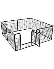 Yaheetech 8 Parque para Perro 240x80x60cm Vallas para Perros Jaula de Cachorros Corral para Mascota Gato Animales Pequeños Grande