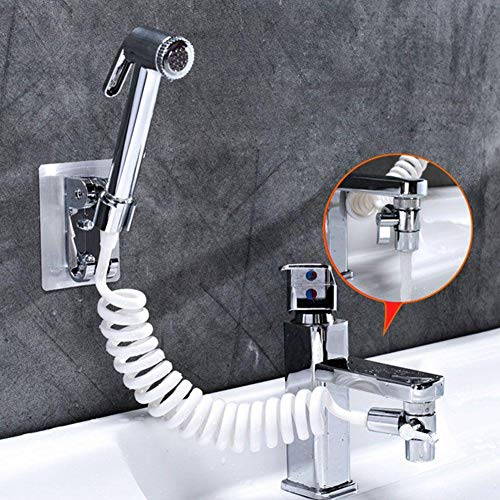 HOTEU Badezimmer Externe Dusche Waschbecken Waschbecken Wasserhahn Wasserspender Extended Shampoo Artifact Multifunktions-Duschkopf-Set
