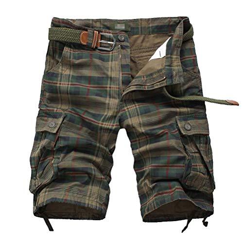 IDEALSANXUN Men/'s Casual Multi-Pockets Cargo Shorts