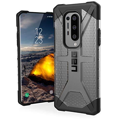 Urban Armor Gear Plasma OnePlus 8 Pro Protective Sleeve (Compatible con la carga inalámbrica, funda de teléfono móvil resistente a los golpes, parachoques ultra delgado) - transparente