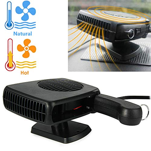 Hangang 12V 150W Réchauffeur de Voiture Chauffage Portable Voiture Refroidisseur Auto Dégivreur Ventilateur portable pour voiture pour Refroidissement Chauffage Dégivrage et Désembuage