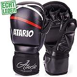 IRON MIKE Premium MMA Handschuhe aus Leder mit extra Dicker