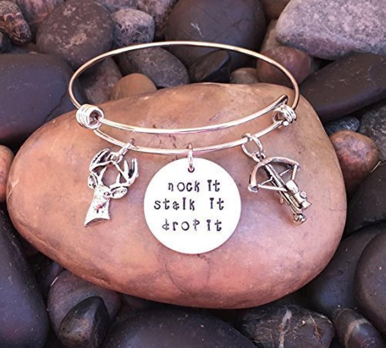Nock It Stalk It Drop It Bracelet ? | Hunting Bracelet | Hunting Jewelry | Buck Bracelet | Deer Jewelry | Gift For Cross Bow Huntress Hunter