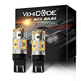 VehiCode CanBus Error Free 7443 7444 LED Light Bulb White/Amber(Yellow) Switchback Turn Signal Light/DRL with Built-in Load Resistor - 7443NA 7444NA Anti Hyper Flash Dual Color Replacement (2 Pack)