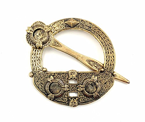 J.C. Walsh and Sons Ltd Irish Celtic Antique Gold Plated Scarf Clip