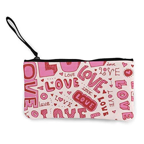 Pink Love Pattern Tote Bolsa de Compras para Mujer Monedero Monedero Bolsa...
