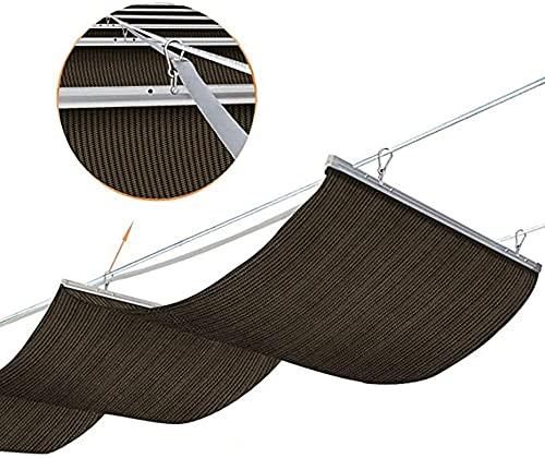 Vela de sombra retráctil Paño de sombra retráctil Tejido de polietileno 210GSM Cuerda de alambre de polea de acero inoxidable anti-UV transpirable Adecuado para toldo de persiana enrollable(Color:B