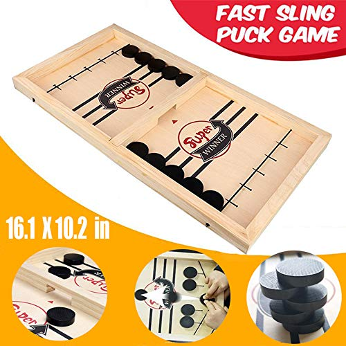 Table Desktop Battle 2 in 1 Ice Hockey GameFunny Classic Battle Board Games for Adults or KidsSports Board GameFast Sling Puck GameWinner Board Games Toys Party Home Interactive Games Toys Small