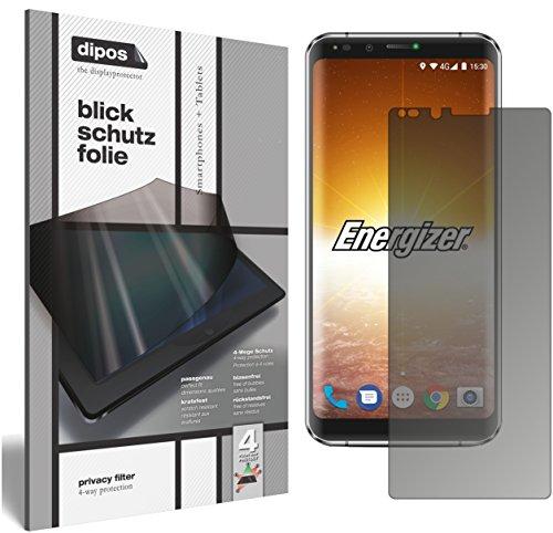 dipos I Blickschutzfolie matt kompatibel mit Energizer Powermax P600S Sichtschutz-Folie Bildschirm-Schutzfolie Privacy-Filter