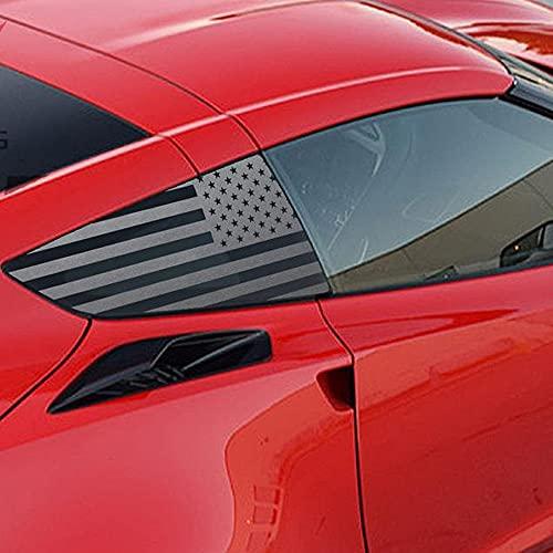 XPLORE OFFROAD - C7 Corvette | Precut American Flag Window Decals | Both Sides | 2014 - 2019
