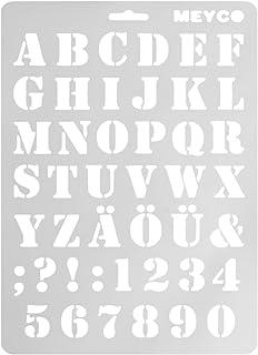 Lamdoo Letra Alfabeto Número Plantillas de Capas Pintura de Pared Sellos de Scrapbooking Álbum