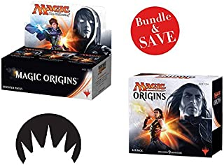 Magic the Gathering Bundle: MTG Magic Origins: Box Fat Pack Combo (1 Booster Box & 1 Fat Pack) Plus Free Bonus Pack of