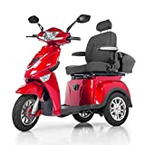 Veloce-Long Range, Lithium Mobility Scooter, 350 lb. Weight Capacity (Red)
