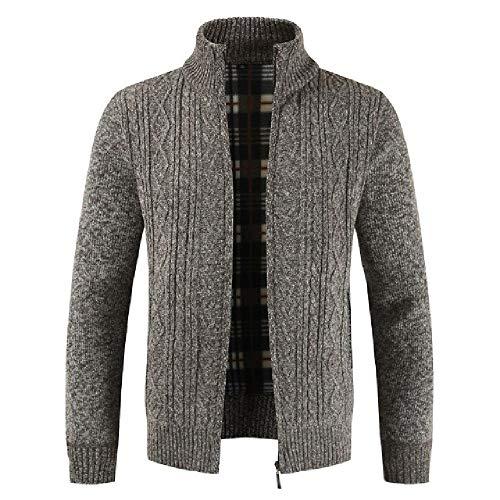 Hombres Otoño Invierno Cárdigan Hombres Outwear Grueso Cálido Suéter de Punto para Hombre Chaquetas Abrigos Ropa Masculina Casual Prend