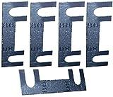 AERZETIX: 5x Fusibles lamina - 80A - para Portafusibles Alta Corriente - C10285