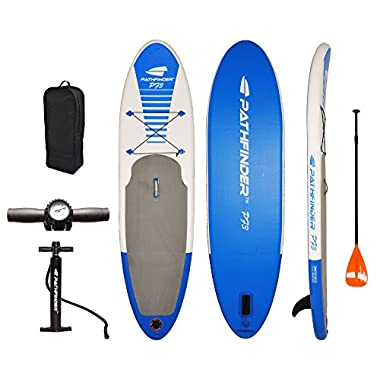 PathFinder Inflatable SUP Stand Up Paddleboard Set 9' 9  (5  Thick)