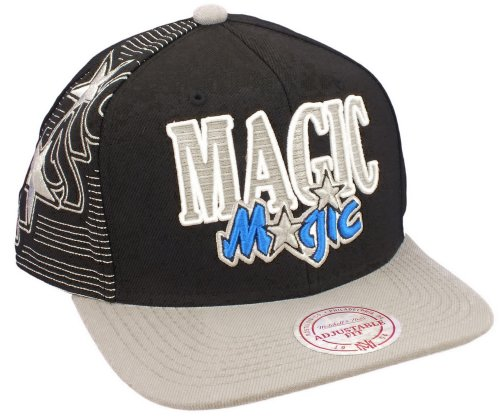 Mitchell & Ness - Casquette Snapback Homme Orlando Magic Laser Stitch