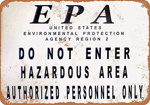 EPA Hazardous Site Zinn Schild Eisen Gemälde Metall Wand Plakette Poster Zum Bar Kaffee Restaurant Schlafzimmer Garage Verein