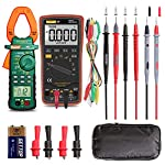 Auto Ranging Digital Multimeter and Clamp Meter - with Storage Bag Battery Alligator Clips Test Leads for AC/DC Voltage/Current Voltage Alert Amp Ohm/Volt Multi Tester Diode