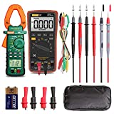 Auto Ranging Digital Multimeter and Clamp Meter - with Storage Bag Battery Alligator Clips Test...