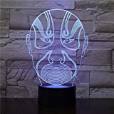 Nachtlicht Chinesische Peking-oper Facebook-touch Kleine Nachtlicht 7 Farbe Touch Optische Bild Tischdekoration Lampe, Geeignet Für Schlafzimmer Bar Atmosphäre Lampe