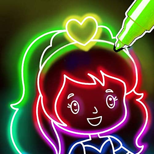 Doodle Glow Coloring & Drawing Games for Kids 🌟🎨 Kids Doodle, Glow, Neon Coloring Book