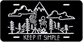 Keep It Simple Mountains Forest Camping Vanity Front License Plate Tag KCE322