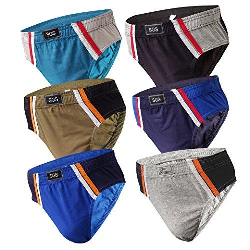 6-12 Slips Herren Unterhosen Männer Slip Unterwäsche Unterhose Slipshorts als Farbmix (S, 6.Stück 570), Herstellergröße 5