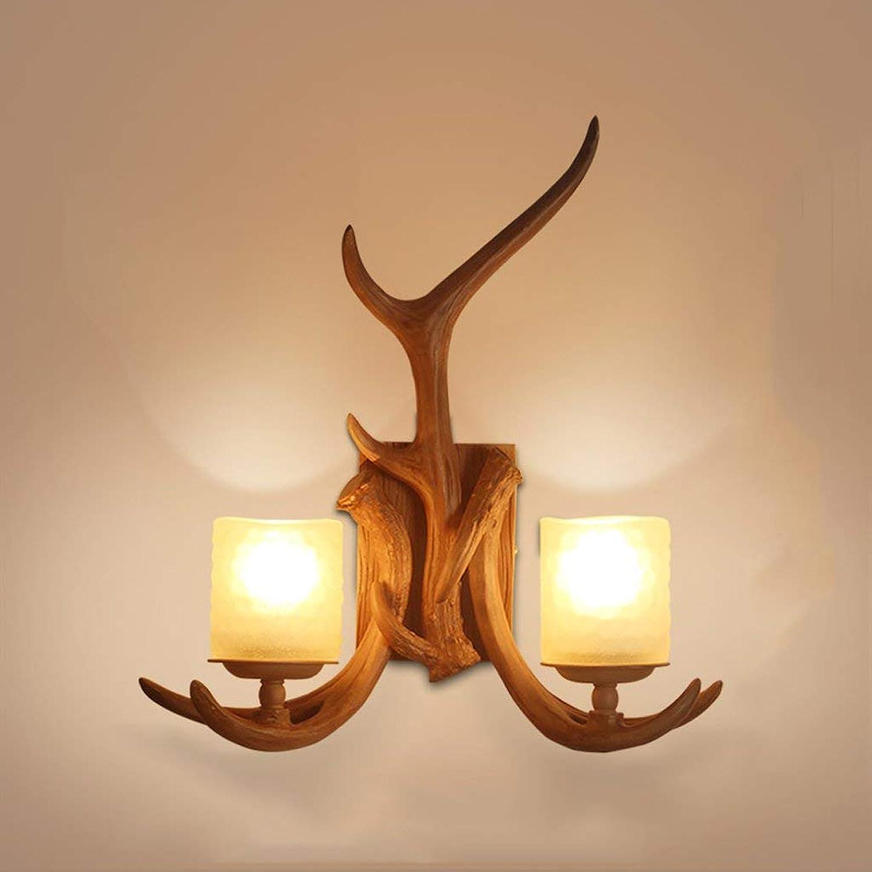 Retro American Country Wohnzimmer Lackiert Nachttisch Nachttischlampe Wandleuchte A+ (Gre  C)