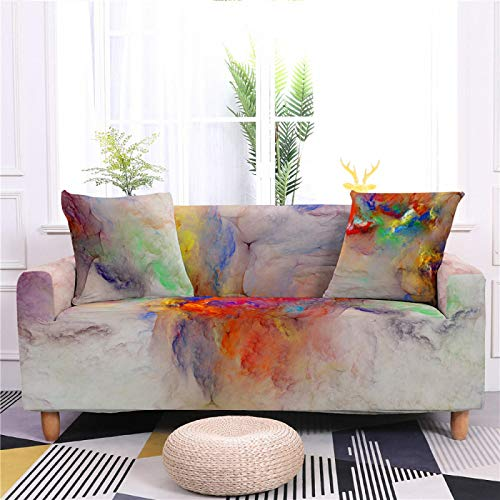 Universal Sofa Cover Spandex Stretch Couch Slipcover Red White abstract rendering Pattern Tight Fitted Armchair Loveseat Settee Cover 1/2/3/4 Seater Sofa Protector,2,Seat 145,185cm