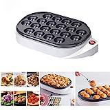 Máquina eléctrica para hacer takoyaki, sartén japonesa para bolitas de pulpo takoyaki, máquina para hornear panqueques, 20 agujeros, sartén para cocina, CA 220V 50/60Hz 650W