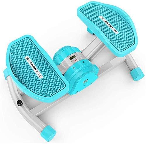 Stepper Stepping Machine Aerobic Fitness Swing Inalámbrico Bluetooth Stepper Home Pequeño Mini Máquina de pérdida de peso Masaje de pies Equipo de fitness Tamaño: 54.5X35.5X23CM Ejercicio Glúteos Le