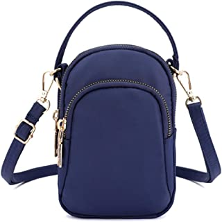 feelingood Women Shoulder Crossbody Bag Zipper Portable Mini for Mobile Phone Earphone Keys