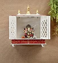 TAM Creatio Wooden Pooja Mandir  Indian   Hindu   Decoration   Puja   Cabinet   Temple   Bhagwan   Stand   Mandapam   Wal...
