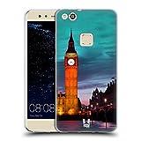 Head Case Designs Big Ben Torre Dell'orologio di Notte Londra Il Meglio di Ogni Luogo Set 2 Cover in Morbido Gel e Sfondo di Design Abbinato Compatibile con Huawei P10 Lite