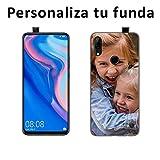 Mookase Funda Carcasa Personalizada para tu móvil Huawei con Foto, Imagen o Texto. Flexible, Bordes Transparentes (P Smart Z, Gel Flexible)