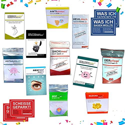 Kackspecht Lustige Geschenkidee für Männer 15 teilig Geburtstagsgeschenk Scherzartikel zum Geburtstag lustige Geschenke für Männer