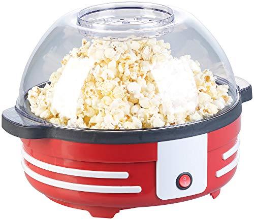 Rosenstein & Söhne Popcorn Pfanne: Retro-Popcorn-Maschine mit Rührwerk und Antihaftbeschichtung, 850 Watt (Popkorn Maschine)