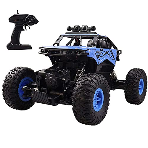 GLXLSBZ Escala 1/14 Aleación Spray Off-Road Control Remoto Coche Todo Terreno Escalada Vehículo RC LED Ligh4WD RC Buggy Bigfoot Monster RC Truck Gi