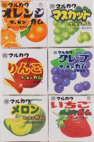 丸川製菓 フルーツ6マーブルガム 6個 ×15個