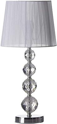 Lampada da tavolo in metallo bianco 25x54 cm
