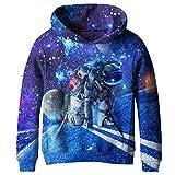 SAYM Teen Boys' Galaxy Fleece Sweatshirts Pocket Pullover Hoodies 4-16Y NO32 XL