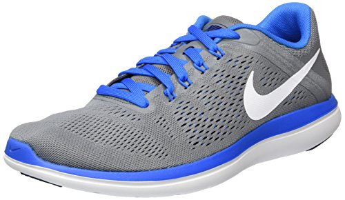 NIKE Mens Flex 2016 RN FitSole Supportive Running Shoes Gray 8 Medium (D)