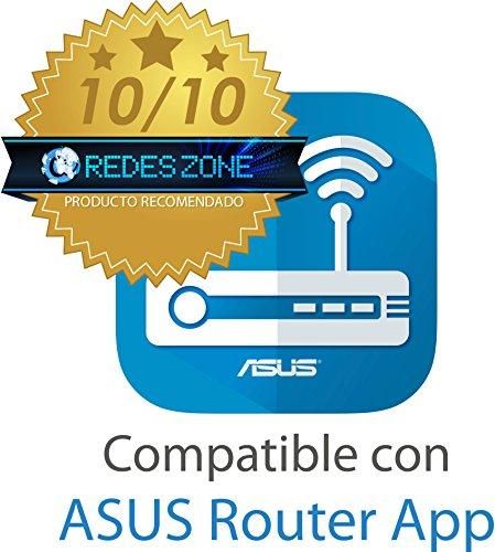 Asus RT-N12 Ver.D Router (WiFi 4 N300 MIMO, 4x Fast-Ethernet LAN, App Steuerung, 5dBi Antennen, VPN)