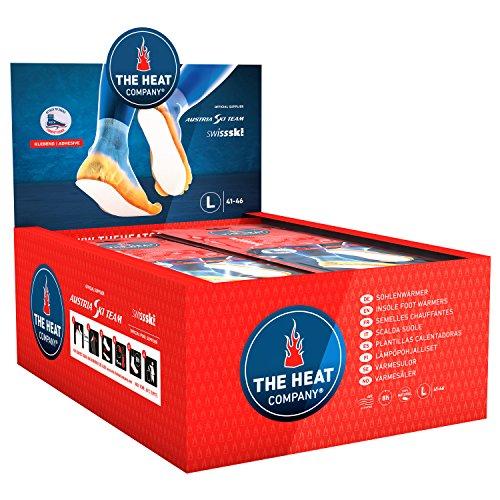 THE HEAT COMPANY Sohlenwärmer klebend - EXTRA WARM - Wärmesohlen - Fußwärmer - 8 Stunden warme Füße - sofort einsatzbereit - luftaktiviert - rein natürlich - Größe Large: 41-46 - 30 Paar