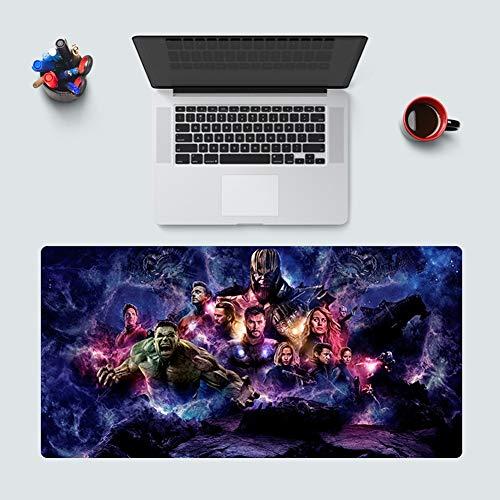 CSQHCZS-SBD Geavanceerde Marvel Avengers Iron Man muismat, antislip blokkering Anime toetsenbord bureauonderlegger, antislip rubberen basis, professionele gaming-muismat ++++