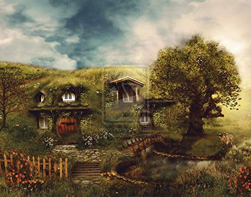 Slbtr 3D Wooden Puzzle Set 1000 Pieces - Lord Of The Rings-Hobbit Poster L - Diy Model Kits For Adults Teens And Children - Ideal Christmas And New Year Gift - Gorgeous Home Décor
