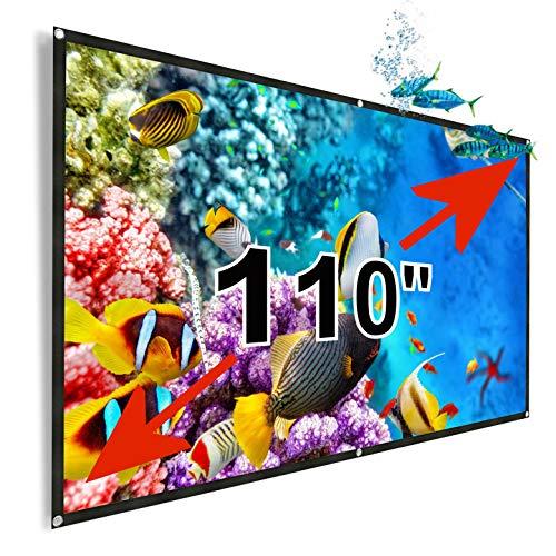 Tela de proyección 110' Lux-Screen Formato 16:9 Superficie de 3...